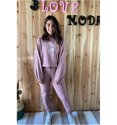 SUDADERA GRATEFUL ROSA
